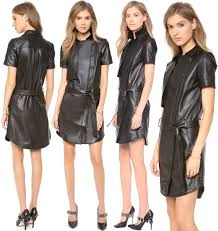 rebecca minkoff pilot leather dress