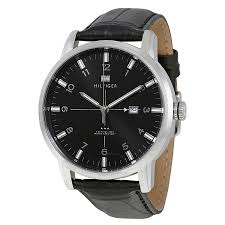 tommy hilfiger george black dial and leather strap men s watch tommy hilfiger george black dial and leather strap men s watch 1710330