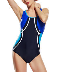 Uhnice Womens Athletic One Piece Bathing Suit Racing Training Sports Swimsuit