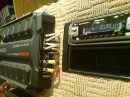 wiring a car audio amplifier and headunit up indoors using pc wiring a car audio amplifier and headunit up indoors using pc power supply 8 steps
