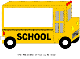 Small Picture School Bus Activity Sheet