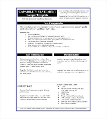 Resume Writing Template. Free Capability Statement Template Word ...