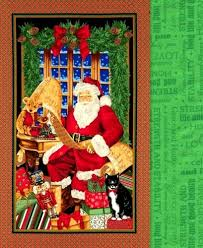 23 best Quilting with panels images on Pinterest | Quilt block ... & Easy Panel Quilt Kit Checking It Twice Christmas Santa Wall Quilt Kit Adamdwight.com