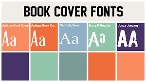book cover fonts best fonts
