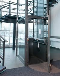 Commercial Wheelchair Lifts Stainless Steel Cab Apex Elite