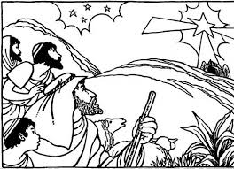 Small Picture Bible Christmas Story The Coming Of Savior Coloring Pages