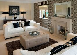 living room white furniture. given the warmer tones in this living room pair of white cushioned sofas brightens furniture