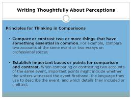 critical thinking lesson ppt  12 writing thoughtfully about perceptions