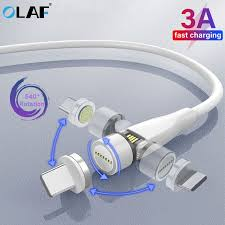 <b>Olaf</b> 540 Rotate 3A <b>Magnetic</b> Cable Micro USB Type C Cable ...