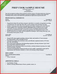 Cook Resumes Stunning Line Cook Resume Job Duties Resumes Cover Letter Fry Prep