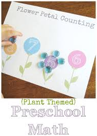 Plant Theme: Preschool Math Flower Petal Counting (Free Printable!)