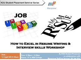 It Dept Kdu Uc Penang How To Excel In Resume Writing