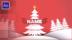 christmas free template christmas after effects 2d intro template free download youtube