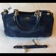 NWT COACH Madison Gathered Leather Carrie Satchel