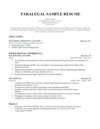 Legal Secretary Sample Resume