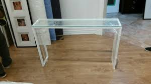 white glass furniture. Skinny White Glass Console Furniture