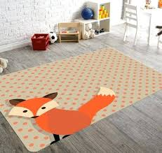 playroom area rugs adorable fox area rug great for a baby nursery or playroom childrens room