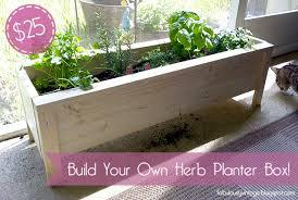 diy herb planter box 25 herb