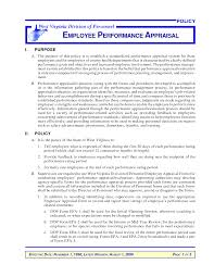 Performance Appraisal Template Word Employee Appraisal Example Benjaminimages Benjaminimages 16