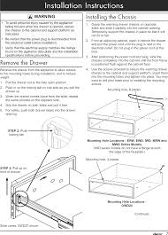 page 9 of 12 dacor ewd24sch user manual warming drawer manuals and guides l1002500