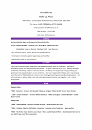 Artist Resume Sample Makeup Objective Examples Templates For