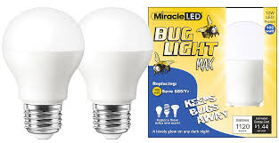 What Color Light Bulb Doesn T Attract Bugs Miracle Led Yellow Bug Light Max Replaces 100w A19 Outdoor Bulb For Porch