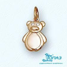 Детская золотая подвеска <b>Мишка с фианитами</b> Т10203174 цена ...