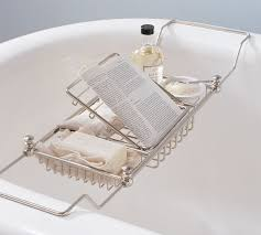 mercer bathtub caddy polished nickel finish alternate view