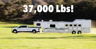 2020 Ford Super Duty Can Tow A Staggering 37 000 Lbs Here