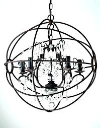 metal orb chandelier with crystals black amusing crystal replica round brown chandeliers large world market