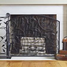 Antiqued Brass Fireplace Screen  Crate And BarrelSmall Fireplace Screens