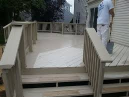 paint deck with beige house