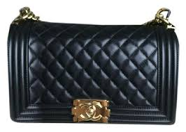 Chanel Pearly Black Quilted Lambskin Leather Boy Cross Body Bag ... & Chanel Pearly Black Quilted Lambskin Leather Boy Cross Body Bag - Tradesy Adamdwight.com