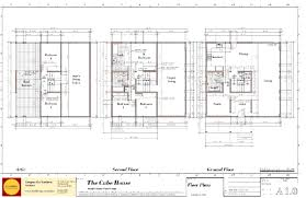 Modern House Plans by Gregory La Vardera Architect: Cube House floor plans