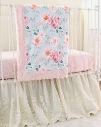 romantic blooms vintage fl lace crib bedding