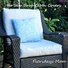 patio cushion drop cloth projects recover outdoor cushions diy