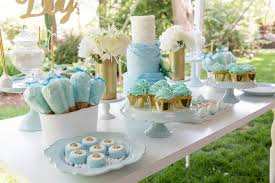 blue gold baby shower