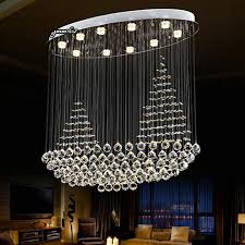 hot modern chandelier k9 crystal pendant lamp plain sailing splendid oval crystal chandelier dining room bar lighting fixtures brass ceiling lights small