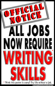 motivational writing poster all jobs now require writing skills middle school writing poster