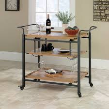 better homes and gardens rustic country bar cart pine finish com