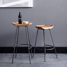 wooden tractor seat bar stools. Our Alden Bar Stools Pair A Rustic Carved Wood Bucket Seat With An Industrial Raw Steel Base, For Modern Take On The Classic Tractor That\u0027s Anything Wooden W