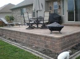 raised paver patio. Perfect Patio Beautiful Raised Stone Patio Ideas Brick Paver Designs Steps Design  In