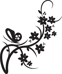 Free Black And White Flower Designs For Cards Download Free