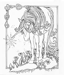Free Unicorning Pages For Kids To Print Fantasy Adults Printable And