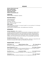 Chic Production Operator Resume Templates In Freelance Cameraman
