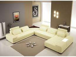 back to appealing u shaped leather sectional