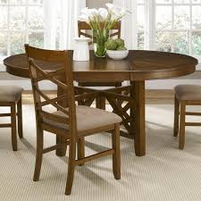 good round dining table with leaf