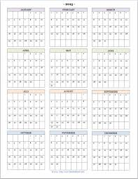 Calendar 12 Months On One Page Small 12 Month Calendar Print Out