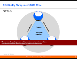 tqm assignment tqm types of organization hierarchy information  total quality management frameworks powerpoint