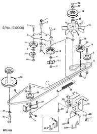 John deere ltr155 ltr166 belt drive idlers serial number 030000 in 180 diagram